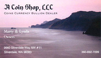 A Coin Shop, LLC business card