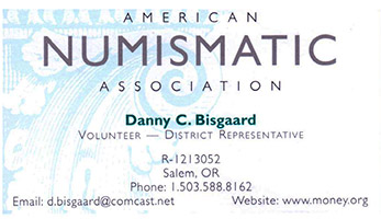 Danny Bisgaard ANA District Rep business card