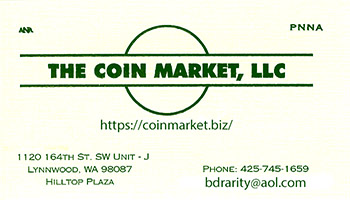 The Coin Market, LLC business card