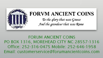 Forum Ancient Coins business card