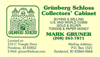Gruner business card