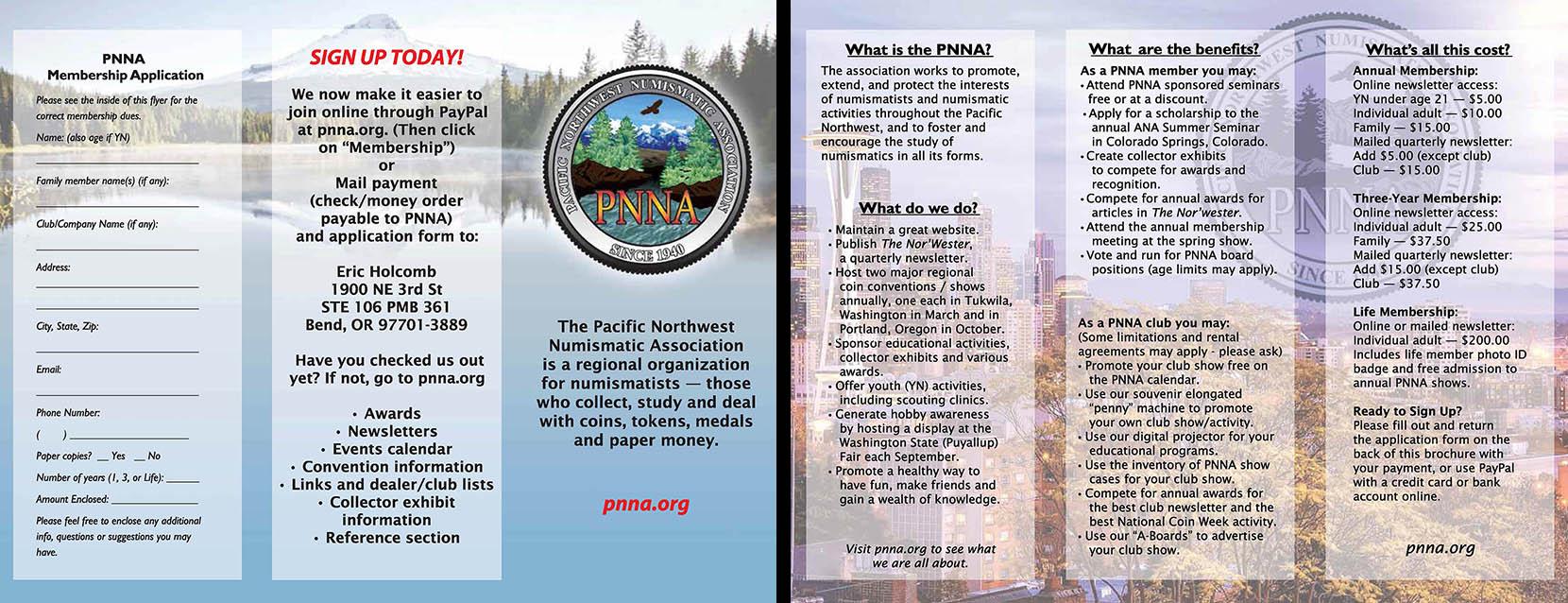 PNNA color membership brochure image